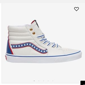 ✨😎NWT Vans Sk8 Hi Americana white leather sneaker